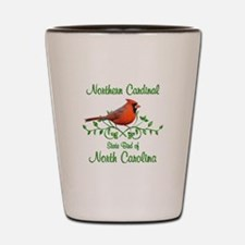 Cardinal North Carolina Bird Shot Glass