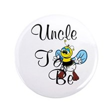 """Playful Uncle To Bee 3.5"""" Button"""