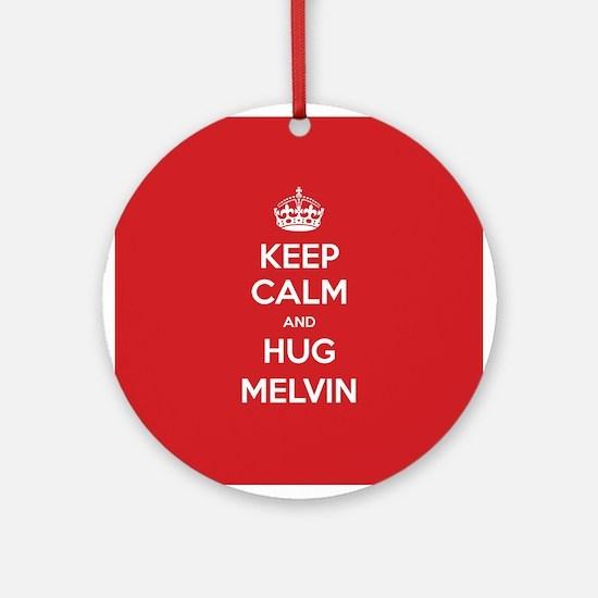 Hug Melvin Ornament (Round)