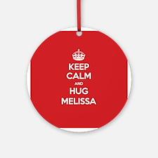 Hug Melissa Ornament (Round)
