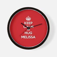 Hug Melissa Wall Clock