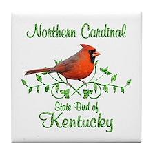 Cardinal Kentucky Bird Tile Coaster