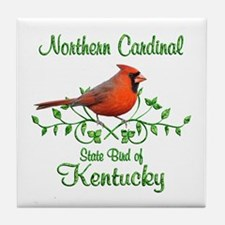 Cardinal Kentucky Bird Tile Coaster