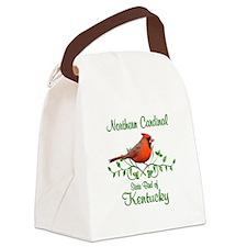 Cardinal Kentucky Bird Canvas Lunch Bag