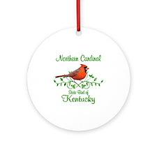 Cardinal Kentucky Bird Ornament (Round)