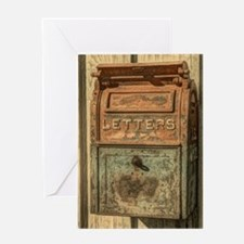 western country vintage mailbox Greeting Card