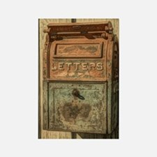 western country vintage mailbox Rectangle Magnet
