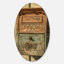 western country vintage mailbox Decal