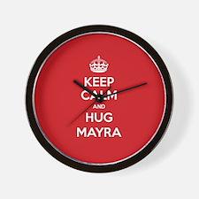 Hug Mayra Wall Clock