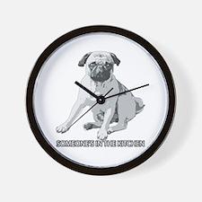 Pug Alert Wall Clock