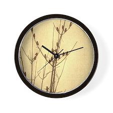 modern sunset zen tree branches birds Wall Clock