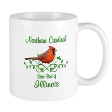 Cardinal Illinois Bird Mug