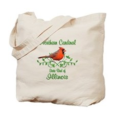Cardinal Illinois Bird Tote Bag