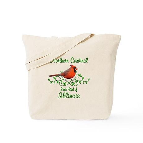 Cardinal Illinois Bird Tote Bag