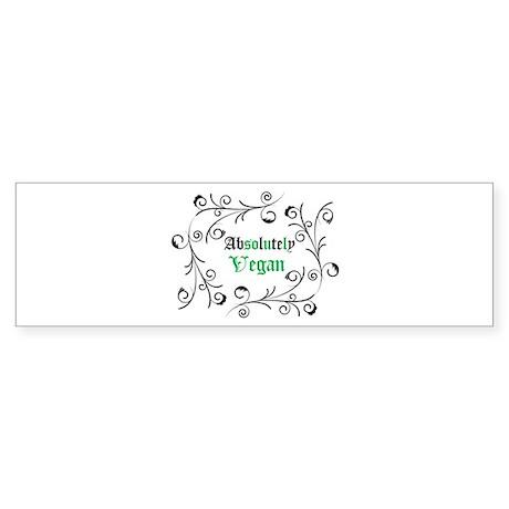 Absolutely Vegan Swirls Bumper Sticker