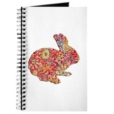 Colorful Floral Easter Bunny Journal