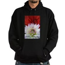 Red And White Dahlias Hoodie