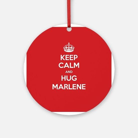Hug Marlene Ornament (Round)