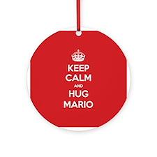 Hug Mario Ornament (Round)