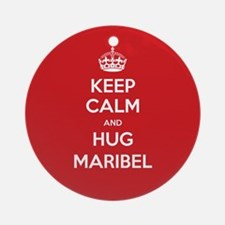 Hug Maribel Ornament (Round)