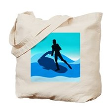 Jet Skier Blue Tote Bag
