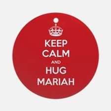 Hug Mariah Ornament (Round)