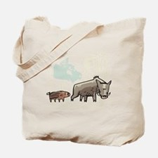 Mommy & Baby Canadian Boars Tote Bag