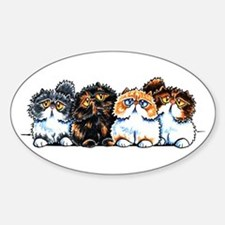 Exotic Foursome Sticker (Oval)