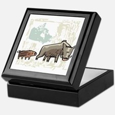 Mommy & Baby Canadian Boars Keepsake Box