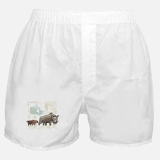 Mommy & Baby Canadian Boars Boxer Shorts