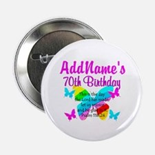 "BLESSED 70TH 2.25"" Button"