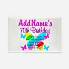 BLESSED 70TH Rectangle Magnet