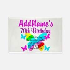BLESSED 70TH Rectangle Magnet (10 pack)