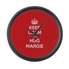 Hug Margie Large Wall Clock