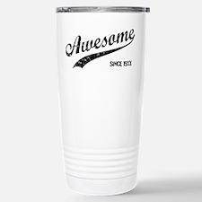 Personalize Awesome Since Travel Mug