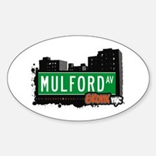 Mulford Av, Bronx, NYC Oval Decal