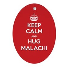Hug Malachi Ornament (Oval)