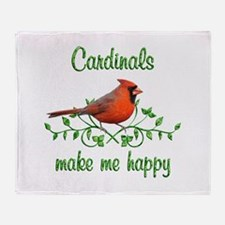 Cardinals Make Me Happy Throw Blanket