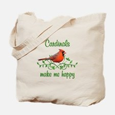 Cardinals Make Me Happy Tote Bag