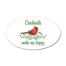 Cardinals Make Me Happy Wall Decal