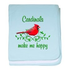 Cardinals Make Me Happy baby blanket