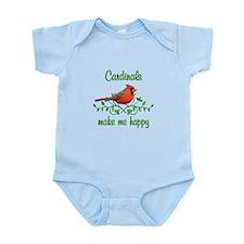 Cardinals Make Me Happy Infant Bodysuit