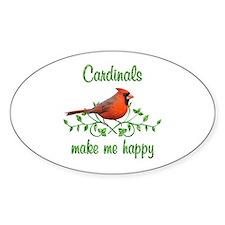 Cardinals Make Me Happy Decal
