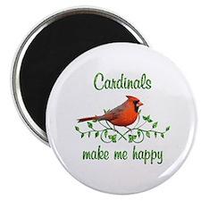 Cardinals Make Me Happy Magnet