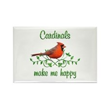 Cardinals Make Me Happy Rectangle Magnet