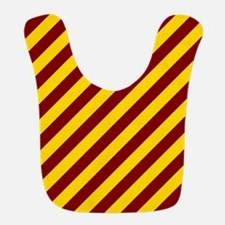 Maroon and Gold Striped Bib