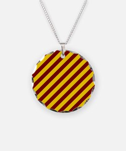 Maroon and Gold Striped Necklace