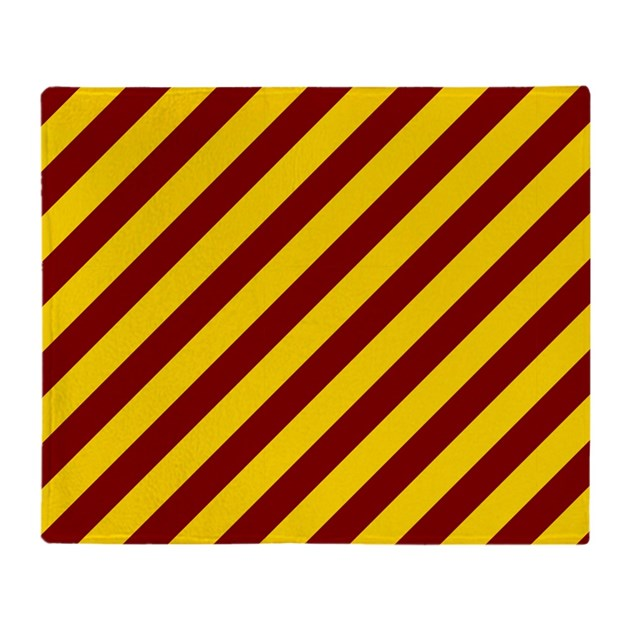 Maroon and Gold Striped Throw Blanket by thetestshop
