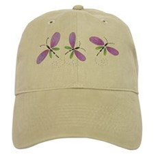 dragonfly cap (white & tan)