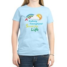 Kidney Transplant Rainbow Cloud T-Shirt